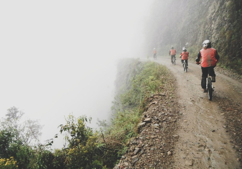 Would you ride down Death Road – the world's deadliest road?!